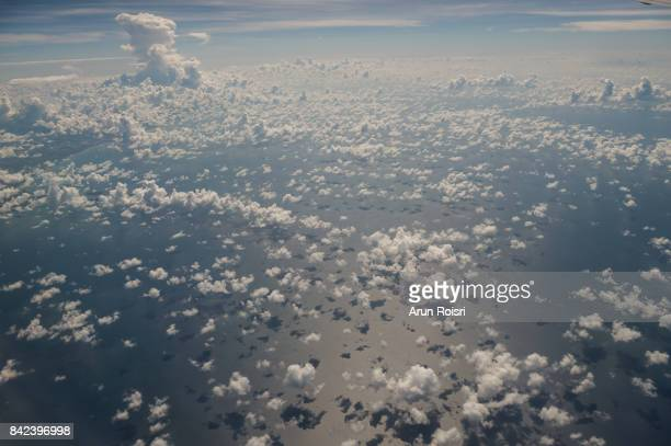 Gulf of Thailand Sea view above the clouds