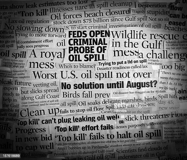 Gulf Oil Spill Headline Collage