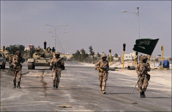 Khafji Saudi Arabia  City pictures : Gulf War Khafji after the battle In Al Khafji Saudi Arabia On February ...