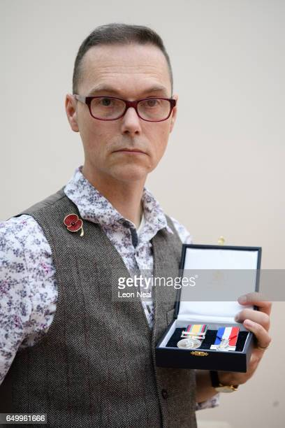 Gulf War veteran and former RAF medic Ian EwersLarose at home on March 3 2017 in Ipswich England Ian EwersLarose saw action in Operation Granby in...