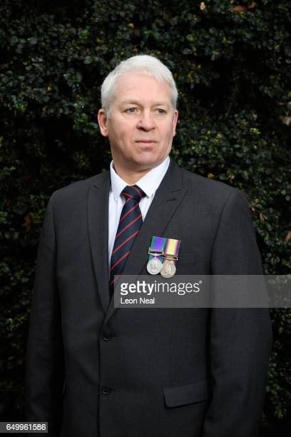 Gulf War veteran Andrew Whittaker outside the Ministry of Defence HQ on March 3 2017 in Whitehall England Andrew Whittaker joined the TA in his late...