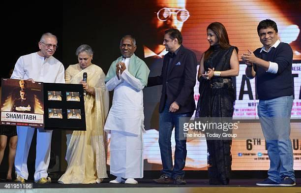 Gulzar and Jaya Bachchan at the music launch of Shamitabh and celebrating 1000 films of Ilaiyaaraaja music