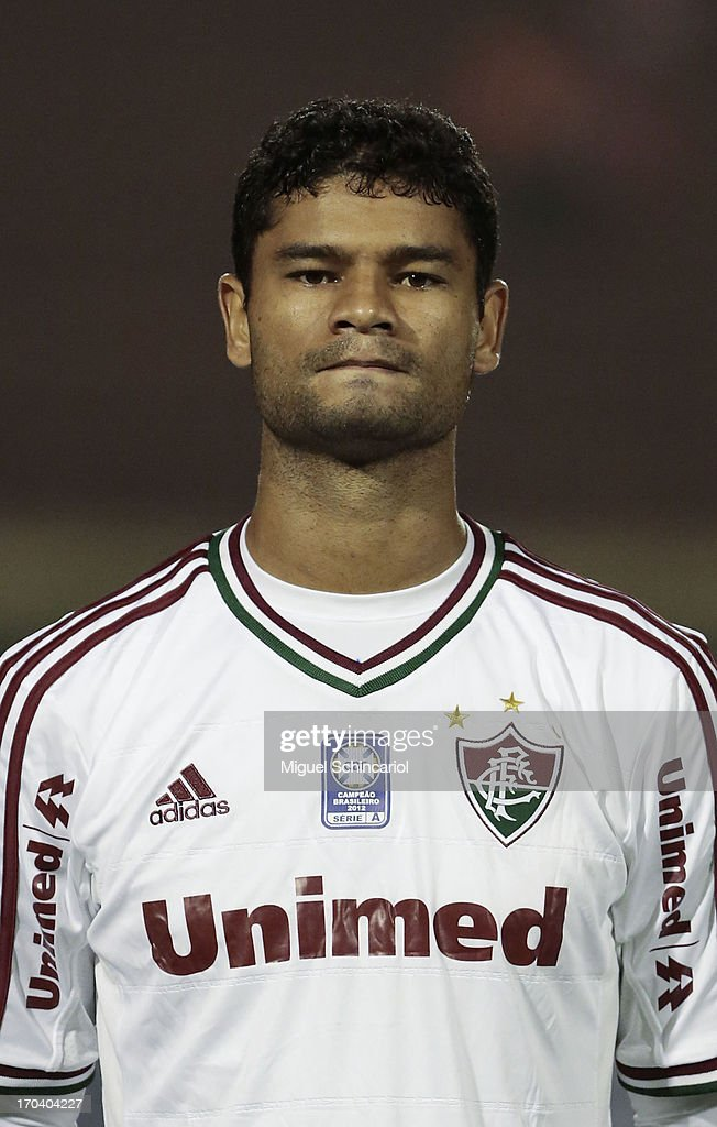 Gum of Fluminense poses before a match between Portuguesa and Fluminense as part of the Brazilian Serie A 2013 at Caninde stadium on June 12, 2013 in Sao Paulo, Brazil