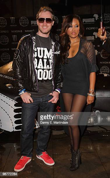 Gumball 300 founder Maximillion Cooper and Eve Jihan Jeffers attend the launch party for The Gumball 300 Rally on April 30 2010 in London England