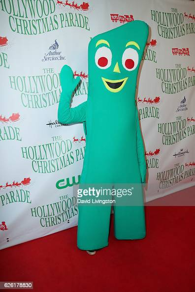 Gumby arrives at the 85th Annual Hollywood Christmas Parade on November 27 2016 in Hollywood California