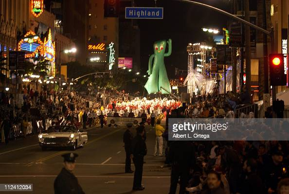 Gumby balloon during The 2002 Blockbuster Hollywood Spectacular Parade Parade Route at Hollywood Blvd in Hollywood California United States