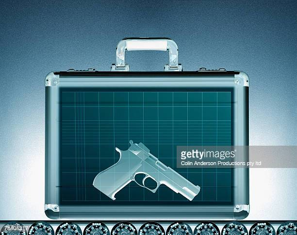 Gun in a briefcase