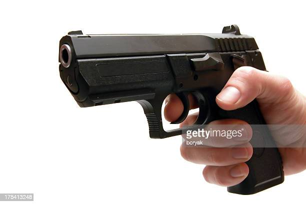 Pistola Aislado en blanco