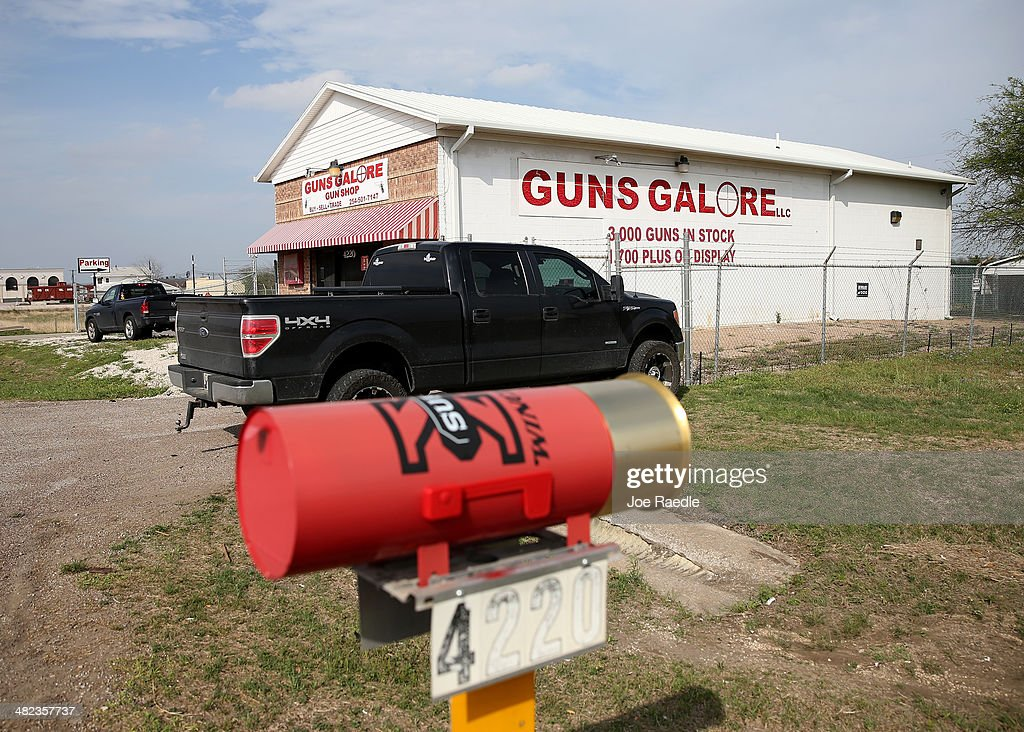 Gun shop, 'Guns Galore' is seen where it is reported that Iraq war veteran, Ivan Lopez, bought his weapon before using it to kill three and wound 16 at Fort Hood before taking his own life on April 3, 2014 in Fort Hood, Texas. The investigation continues into why Lopez did the shooting on the base.