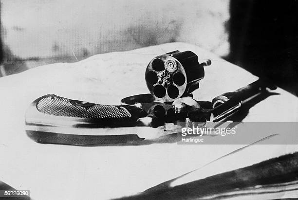 Gun used by John F Schrank in his assassination attempt on US President Theodore Roosevelt on October 14 1912 in Milwaukee WI