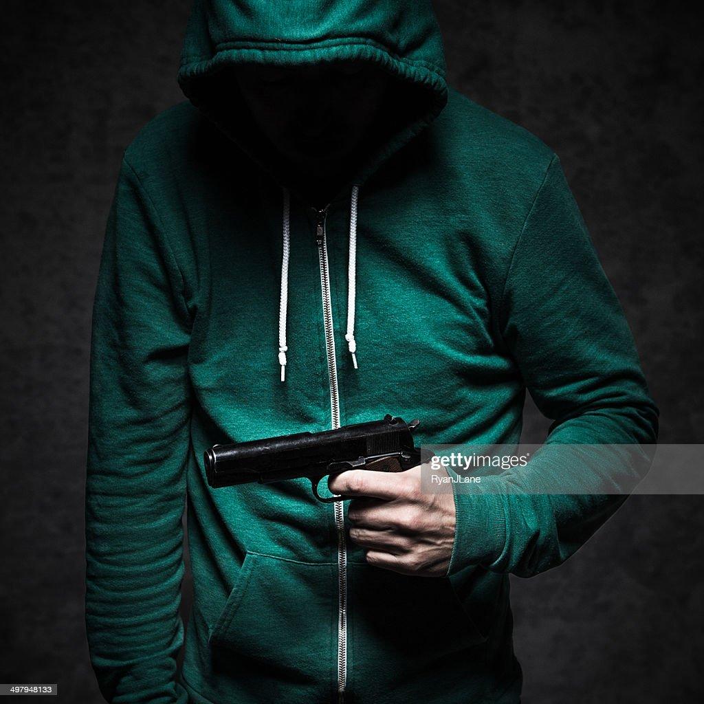 Gun Violence Student Shooting : Stock Photo