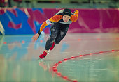 Gunda NiemannStirnemann of Germany skates in the Women's 1500m speed skating competition on 21 February 1994 during the XVII Olympic Winter Games at...