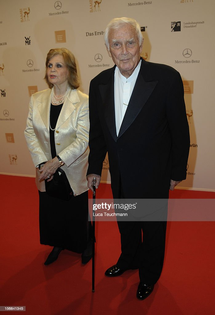 Gundel Fuchsberger and Joachim Fuchsberger attend 'BAMBI Awards 2012' at the Stadthalle Duesseldorf on November 22, 2012 in Duesseldorf, Germany.