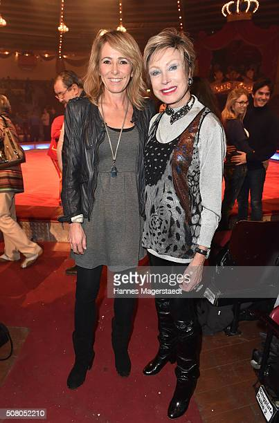 Gundis Zambo and AntjeKatrin Kuehnemann during the premiere of the Circus Krone program 'Circus der Preistraeger' at Circus Krone on February 2 2016...