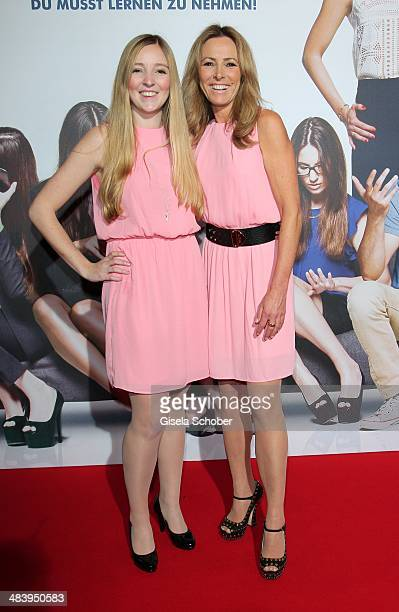 Gundis Zambo and her daughter Greta attend the premiere of the film 'Irre sind maennlich' at Mathaeser Filmpalast on April 10 2014 in Munich Germany