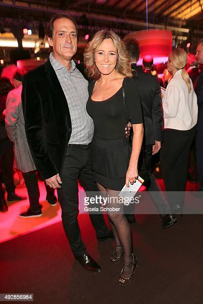 Gundis Zambo and her husband Christoph Mahrdt arrive for the Tribute to Bambi 2015 at Station on October 15 2015 in Berlin Germany