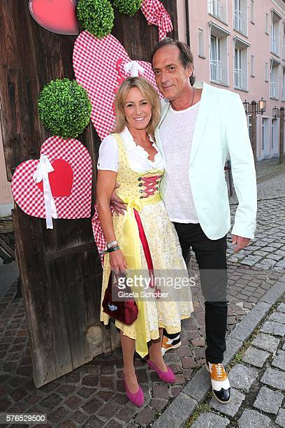 Gundis Zambo and her husband Christoph Mahrdt during a bavarian evening ahead of the Kaiser Cup 2016 on July 15 2016 in Bad Griesbach near Passau...