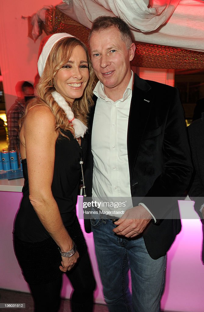 Gundis Zambo and Stefan Reuter attend the ABC For Kids Charity Event at the baSH Club on December 16 2011 in Munich Germany