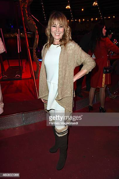 Gundis Zambo attends the 'Circus Krone Christmas Show 2014' at Circus Krone on December 25 2014 in Munich Germany