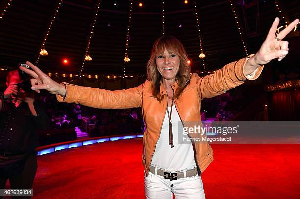 Gundis Zambo attends the 'Wunderwelt der Manege' Circus Krone Premiere on February 1 2015 in Munich Germany