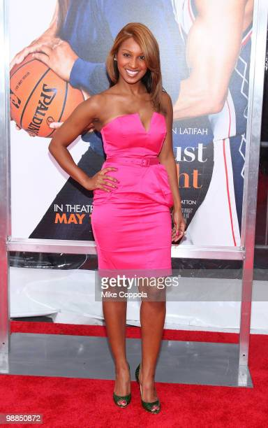 Unit records recording artist/singer Olivia attends the premiere of 'Just Wright' at Ziegfeld Theatre on May 4 2010 in New York City