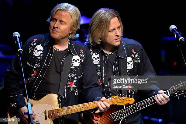 Gunnar and Matthew Nelson of 'Ricky Nelson Remembered' perform during the Paradise Artists Party at the IEBA 2015 Conference Day 3 on October 13 2015...