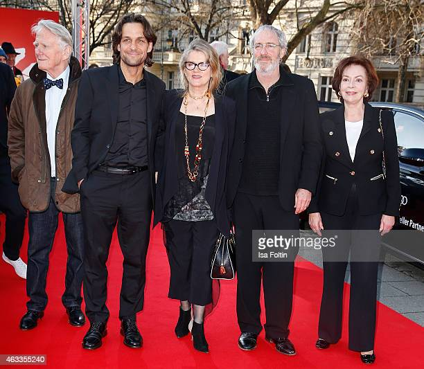 Gunnar Moller Robert Seeliger Barbara Sukowa August Zirner and Karin Dor attend the ''The Misplaced World' Premiere 65th Berlinale International Film...