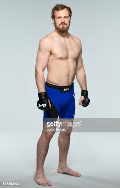 Gunnar Nelson of Iceland poses for a portrait during a UFC photo session at the Crowne Plaza Glasgow on July 13 2017 in Glasgow Scotland
