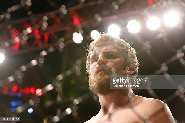 Gunnar Nelson of Iceland prepares to face Demian Maia of Brazil in their welterweight bout during the UFC 194 event inside MGM Grand Garden Arena on...