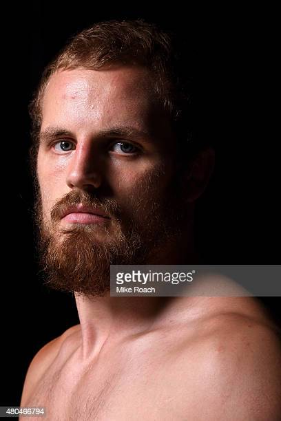 Gunnar Nelson poses for portraits after his win over Brandon Thatch during the UFC 189 event inside MGM Grand Garden Arena on July 11 2015 in Las...