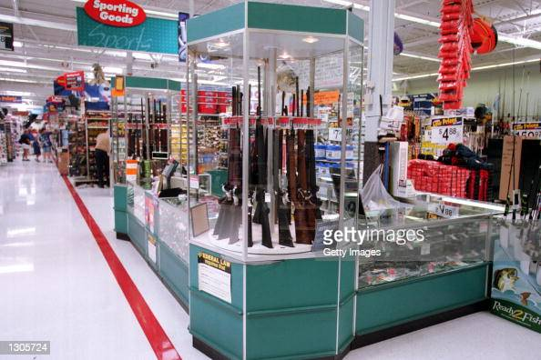 Guns for sale at a WalMart July 19 2000 WalMart and one of their chief spokespeople Rosie O''Donnell are at odds over the issue of guns and whether...