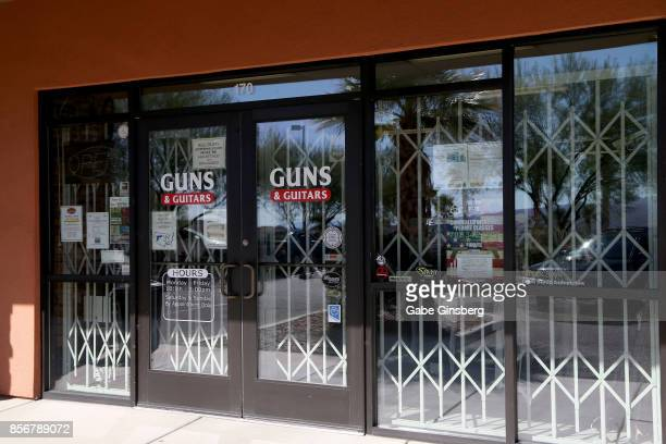 Guns Guitars a gun shop where suspected Las Vegas gunman Stephen Paddock allegedly purchased firearms October 2 2017 in Mesquite Nevada Paddock...