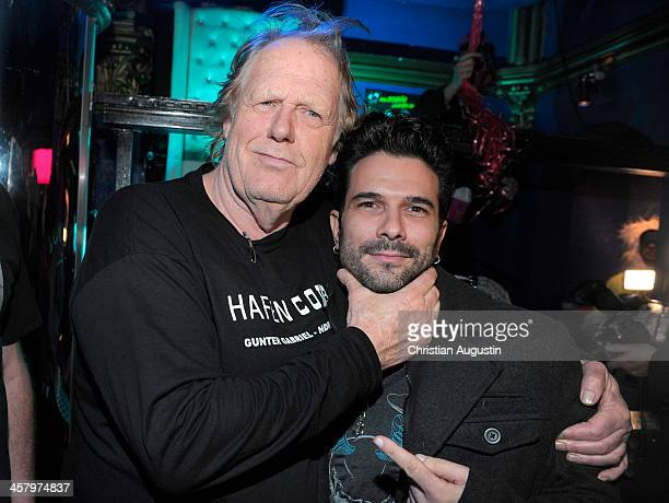 Gunter Gabriel and Marc Terenzi attend the premiere of the short film 'Das verlorene Koenigreich' at Temptation Club on December 19 2013 in Hamburg...