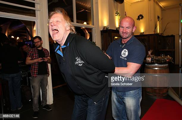 Gunter Gabriel during Juergen Drews' 70th Birthday Party at Hofbraeuhaus on April 02 2015 in Berlin Germany