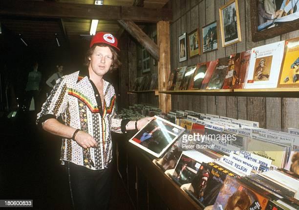 Gunter Gabriel Nashville/Tennessee/USA/Nordamerika Schallplattenladen Schallplatte BaseballKappe