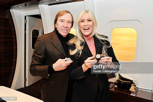 Gunter Netzer and Elvira Lang Netzer attend the IWC 'Come Fly With Us' Gala Dinner during the launch of the Pilot's Watches Novelties from the Swiss...