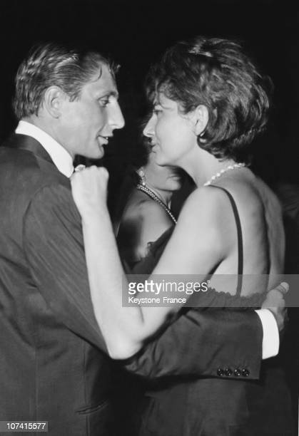 Gunter Sachs And ExEmpress Soraya Opening The Ball 'The Longest Night Of The Year' Organized By Eddy Barclay And Paul Pacini On August 22 1962