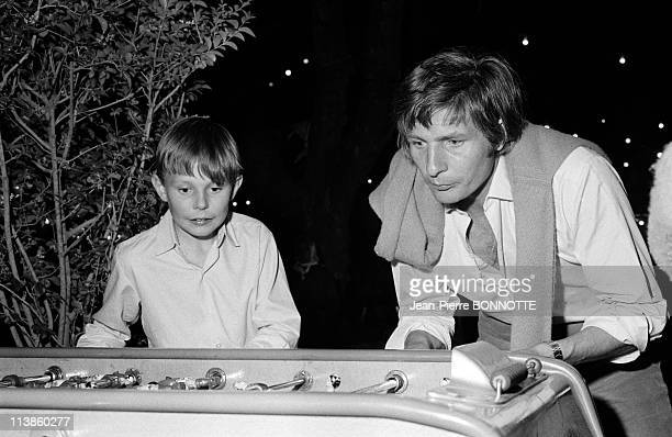 Gunter Sachs playing table football with his son in SaintTropez April 1967