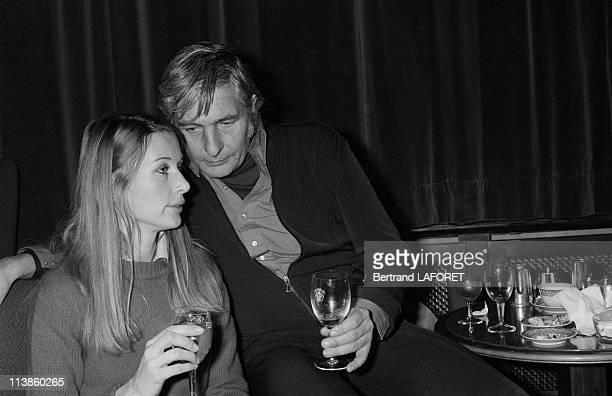 Gunter Sachs with Nina Rindt widow of famous race car driver Jochen Rindt December 27 1976