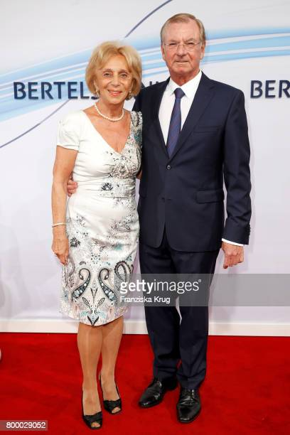 Gunter Thielen and his wife Ulla ThielenHoell attend the 'Bertelsmann Summer Party' at Bertelsmann Repraesentanz on June 22 2017 in Berlin Germany
