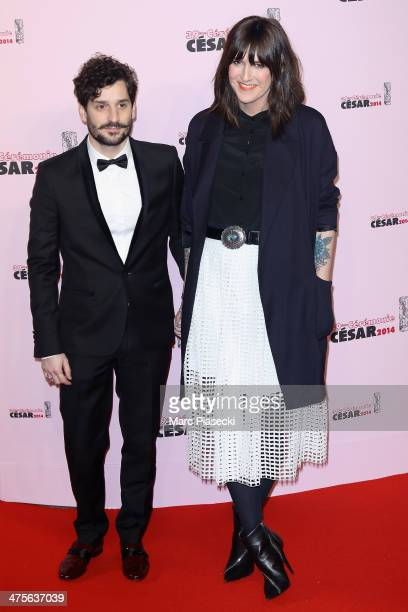 Gunther Love and Daphne Burki arrive for the 39th Cesar Film Awards 2014 at Theatre du Chatelet on February 28 2014 in Paris France
