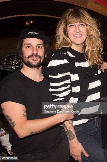 Gunther Love and Daphne Burki attend the Valerie Damidot Book Signing for 'Le Coeur Sur La Main Le Doigt Sur La Gachette' at Buddha Bar on November 2...