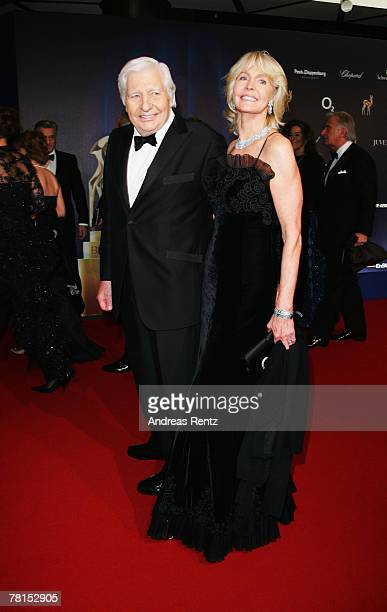 Gunther Sachs and Mirja Sachs attend the annual Bambi Awards 2007 on November 29 2007 in Duesseldorf Germany