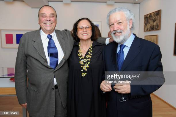 Gunther Uecker Rotraut and Bruno Cora attend GALERIE GMURZYNSKA Celebrates the Opening of YVES KLEIN ROTRAUT Exhibition at Museo d'Arte Lugano on May...