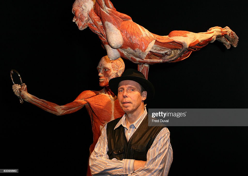 Gunther Von Hagens at the Body Worlds & The Mirror of Time exhibition at the O2 on October 24, 2008 in London, England.