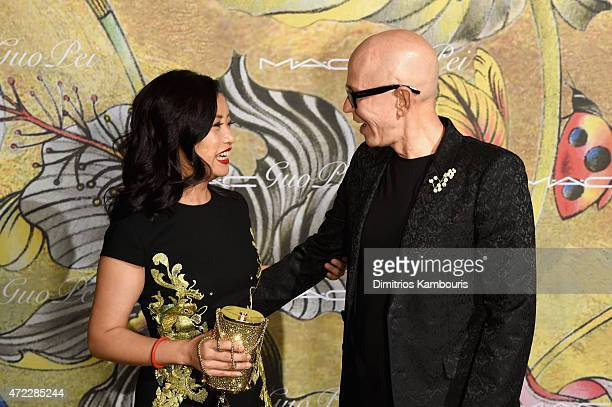 Guo Pei and James Gager attend the MAC x Guo Pei dinner on May 5 2015 in New York City