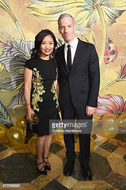Guo Pei and Mel Ottenberg attend the MAC x Guo Pei dinner on May 5 2015 in New York City