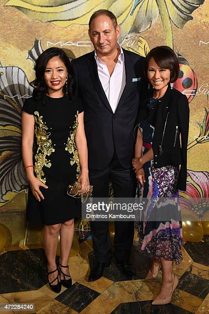 Guo Pei John Demsey and Alina Cho attend the MAC x Guo Pei dinner on May 5 2015 in New York City