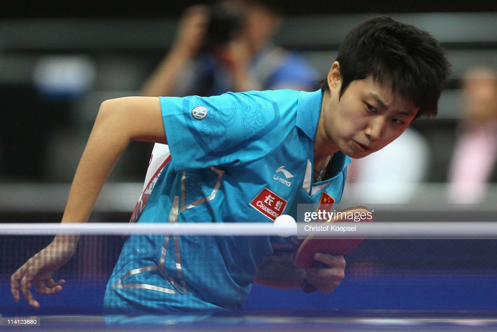 <a gi-track='captionPersonalityLinkClicked' href=/galleries/search?phrase=Guo+Yue&family=editorial&specificpeople=2267823 ng-click='$event.stopPropagation()'>Guo Yue</a> of China serves during the Round of 16 Women's Single match between Wu Jiaduo of Germany and <a gi-track='captionPersonalityLinkClicked' href=/galleries/search?phrase=Guo+Yue&family=editorial&specificpeople=2267823 ng-click='$event.stopPropagation()'>Guo Yue</a> of China during the World Table Tennis Championships at Ahoy Arena on May 12, 2011 in Rotterdam, Netherlands. <a gi-track='captionPersonalityLinkClicked' href=/galleries/search?phrase=Guo+Yue&family=editorial&specificpeople=2267823 ng-click='$event.stopPropagation()'>Guo Yue</a> of China won 4-0 againstz Wu Jiaduo of Germany.