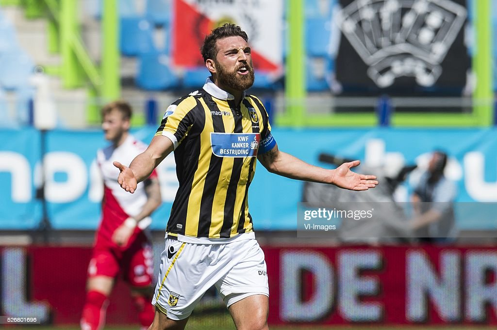 Guram Kashia of Vitesse during the Dutch Eredivisie match between Vitesse Arnhem and FC Utrecht at Gelredome on May 01, 2016 in Arnhem, The Netherlands